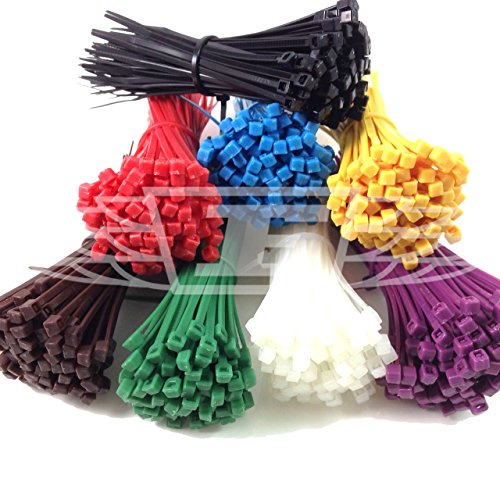 100 x opaski kablowe (wybierz swój kolor) / opaski TIE / opaski na suwak, 2,5 mm x 100 mm bezpłatna dostawa w Wielkiej Brytanii (pomarańczowy)