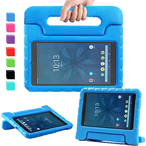 """AVAWO for Walmart Onn 8"""" Kids Case (JUST FIT 2019), Light Weight Shock Proof Convertible Handle Stand Kids Friendly Case for Walmart Onn 8inch Android Tablet (2019 Release), Blue"""