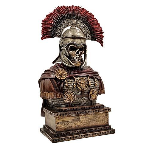 LOOYAR Roman Empire Roman Legion Undead Centurion Soldier Warrior Resin Statue Sculpture Ornament Figurine Craft for Home House Living Room Porch Decoration Office Desk Desktop Table Arrangement Gift