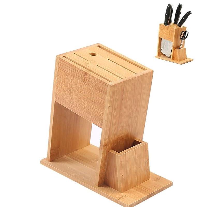 ふりをするカウンタいちゃつく(ナイフなし)CS-DJナイフブロック環境に竹のキッチンナイフスロットカウンターナイフブロック?ストレージ11 * 21 * 20.5Cmユニバーサルナイフホルダー収納スタンド Kitchen (Color : AS PHOTO, Size : ONE SIZE)