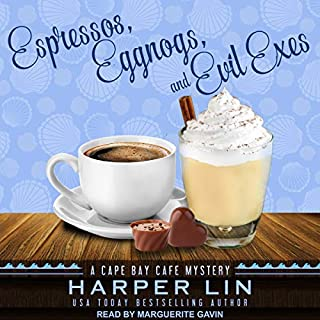 Espressos, Eggnogs, and Evil Exes     Cape Bay Cafe Mystery Series, Book 7              Written by:                                                                                                                                 Harper Lin                               Narrated by:                                                                                                                                 Marguerite Gavin                      Length: 4 hrs and 54 mins     Not rated yet     Overall 0.0