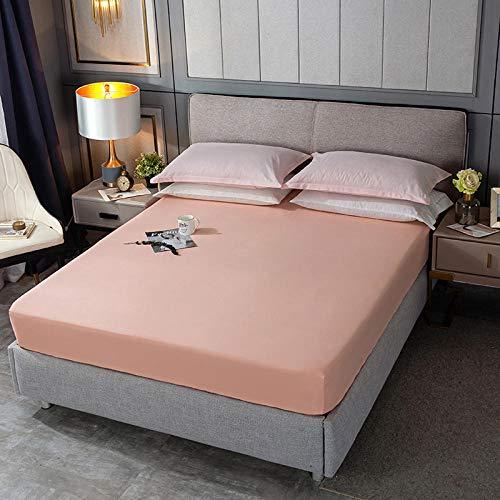 KIrSv Protector de colchón,Sábana Ajustable Suave Funda de colchón Sábanas elásticas Fundas de Almohada cómodas Color sólido Individual Full Queen King-P_120x200cm + 30cm