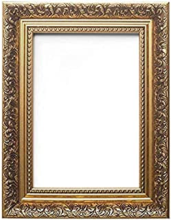 Memory Box French Baroque Style Ornate Swept Antique Style Picture/Photo/Poster Frame with Perspex Sheet - Moulding 35mm Wide and 24mm Deep - Gold 20