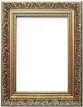 Memory Box Taille Cadre européen - Style Baroque français orné balayé Cadre Photo/Photo/Affiche avec Feuille de Perspex - Moulure de 35 mm de Large et 24 mm de Profondeur - (50 x 70 cm), Or