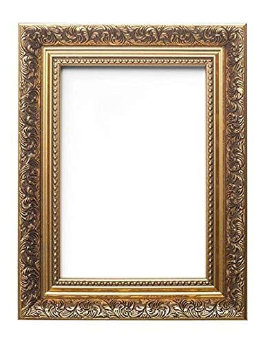 Memory Box FR-Baroque-2-Px-Rl-GlsParent Bilderrahmen im französischen Barock-Stil, mit Zierleiste, 35 mm breit und 24 mm tief, Gold, A1 (59.4 x 84cm) with Perspex Sheet