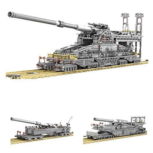 HYZM Technik Custom Bausteine, 3846 Teiles Dora Kanone Tank Militär Panzer Konstruktionsspielzeug - Bauspielzeug Geschenk für Erwachsene und Kinder