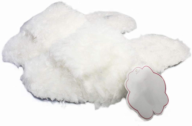 New Women Slippers Winter Warm Home Plush shoes Indoor Outdoor Open Toe Non Slip Female Faux Fur Flip Flops