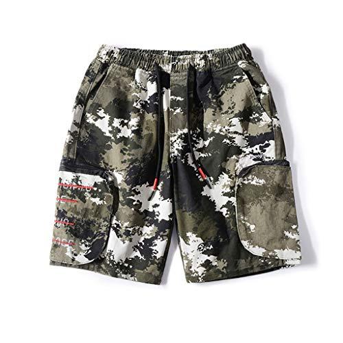 GCX- Shorts Men's Street Shorts Loose Casual Werkkleding Straight shorts shorts Vrije tijd (Color : A, Size : S)
