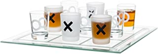 Sagaform Tic Tac Toe Shot Glass Game, Glass, with 8 Glasses