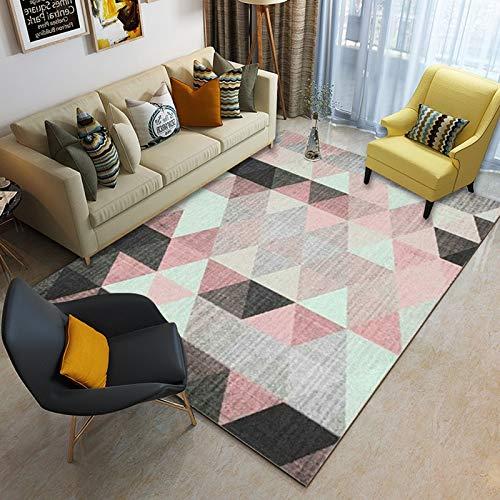 Kinntn Rugs Modern Style Medium dikte 7 mm voor woonkamer slaapkamer keuken tapijt poeder docking donkerzwart Touch Soft antislip, machinewasbaar, bijzonder groot vloerkleed