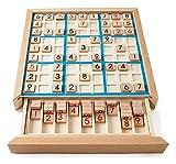 JKFZD Ajedrez de Madera Sudoku Chess Niños Beech International 1 a 9 Tabla Juguete Regalo Aprendizaje Educación Puzzle Toy Chess Board (Size : 23x23x3.8cm)