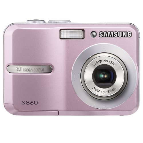 Affordable Samsung S860 8.1MP Digital Camera with 3x Optical Zoom (Pink)