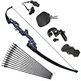 Tongtu Takedown Recurve Bow and Arrows for Adults Set 30 40 lbs Aluminum Alloy Riser Hunting Archery Longbow kit Right Hand