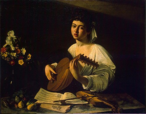 Gifts Delight Laminated 20x16 Poster: Caravaggio Michelangelo Merisi da Lute-Player Painting
