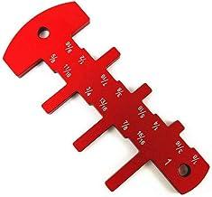 Tratamiento de la madera Regla de sierra La carpintería de bricolaje medidor de altura pulgadas medidor de profundidad de alta precisión Carpintería Herramientas de medición for Sierra de mesa fresado