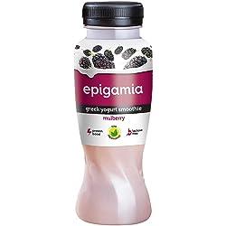 Epigamia Greek Yogurt Smoothie - Mulberry Bottle, 200 ml