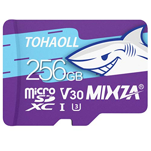 256GB MicroSD Card for Nintendo Switch,MicsoSDXC Memory Card Ultra High Transfer Speed Up to 100MB/s,UHS-1 U3 V30 Memory Card for Tablet Drone Digtal Camera and Action Camera