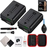 Sony NP-FW50 Rechargeable Battery 2-Pack Bundle with Lexar Professional...