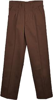 7b3fc5581690a Universal School Uniforms Boys Pleated Pant 8 Brown