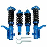 BETTERCLOUD Full Set Coilovers Struts Coilover Lowering Suspension Height Adjustable Fits for 2002 2003 2004 2005 2006 Acura RSX DC5 2.0L Blue 4PCS