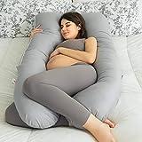 QUEEN ROSE Almohada de embarazo con funda de almohada para el cuerpo, almohada...
