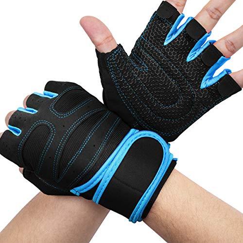AVIDDA Fitness Handschuhe,Gewichtheben Trainingshandschuhe mit Handgelenkstütze,Rutschfest Atmungsaktiv Sporthandschuhe,für Kraftsport,Bodybuilding,Reiten - Für optimalen Grip und Schutz vor Schwielen