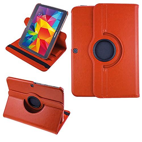 COOVY 2.0 Custodia per Samsung Galaxy TAB 3 10.1 GT-P5200 GT-P5210 GT-P5220 SMART 360° GRADI DI ROTAZIONE COVER SUPPORTO PROTEZIONE CASE Auto Sveglia/Sonno   arancio