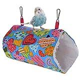 shuxuanltd Cama Hamster Cama Conejo Conejo de la Cama Hámster Cama Rata hamacas Cálido Nido de Pájaro Jaula para Hamster, Accesorios Heart,Small