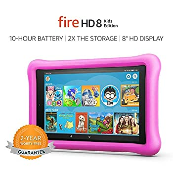 Fire HD 8 Kids Edition Tablet 8  HD Display 32 GB Pink Kid-Proof Case  Previous Generation - 8th