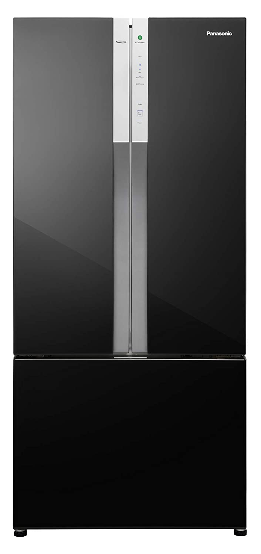 Panasonic Econavi 551 L 6-Stage Inverter Frost-Free Multi-Door Refrigerator (NR-CY550GKXZ, Black Glass, Powered by Artificial Intelligence)