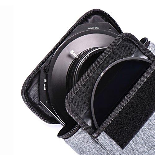 Porte Filtre NiSi S5 Système 150mm en Aluminium - Adaptateur pour Objectif Sigma 14mm F/1.8 DG Art + Filtre polarisant CPL Pro + Housse de Transport