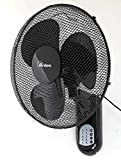 Ardes AR5W40R PARETO COOL RC Ventilador oscilante de pared pala 40 cm, con mando a distancia, 3...
