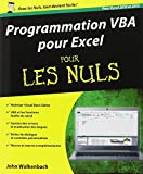 Programmation VBA pour Excel pour les Nuls by John Walkenbach (August 12,2013) - First interactive (August 12,2013)
