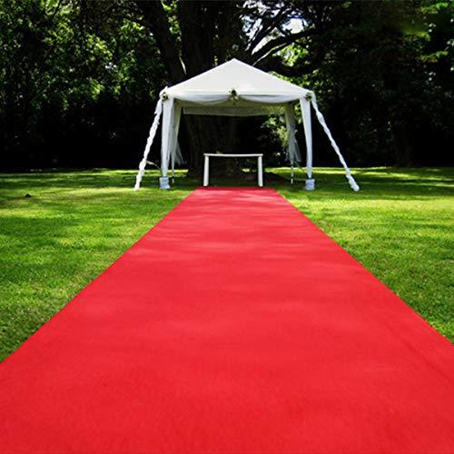 Jeteven Roter Teppich Eventteppich VIP Carpet Läufer hochzeitsteppich Polyester Red Carpet Hochzeit Deko Einweg (15m x 1m)