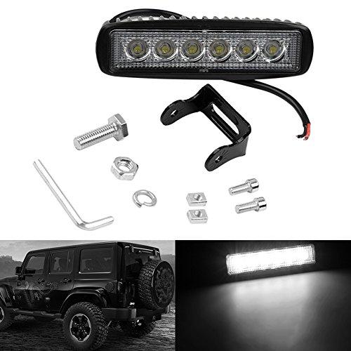 YSHtanj Luz de trabajo para coche, camión, 18 W, LED, barra de luz de trabajo, luz de marcha atrás, foco de luz de barco 12 V 24 V – Floodlight
