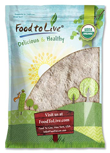 Organic Barley Flour, 8 Pounds - Stone Ground from Whole Hulled Barley, Non-GMO, Raw, Vegan, Bulk, Great for Baking, Product of the USA