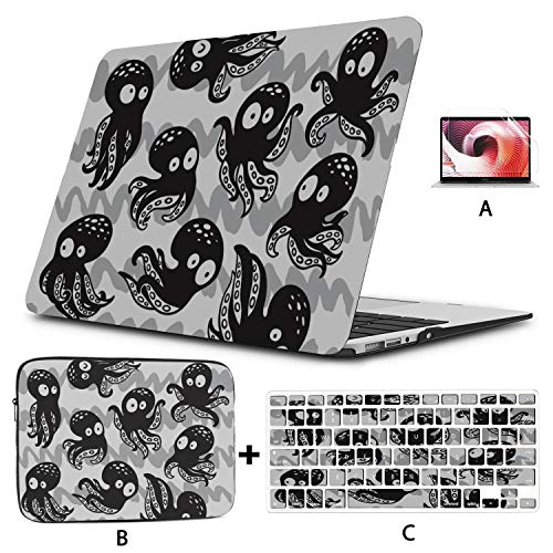 Accessories for MacBook Pro Octopus Magic Fantasy MacBook Pro Covers Hard Shell Mac Air 11'/13' Pro 13'/15'/16' with Notebook Sleeve Bag for MacBook 2008-2020 Version
