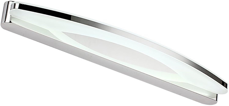 Bath Mirror Lamps LED Spiegel Lampe Mode einfache Badezimmer Badezimmer Edelstahl Spiegel Lampe Anti-Fog und Feuchtigkeit Wandleuchte Spiegelfrontlicht (Farbe   Weies Licht-8W39cm)
