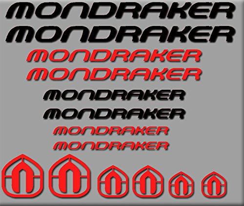 Ecoshirt DP-AF4W-81X0 Sticker Mondraker Bici R180 Stickers Aufkleber Decals Autocollants Adesivi, rot-schwarz