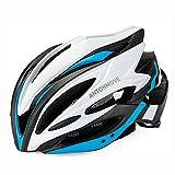 LXJ - Casco de ciclismo para hombre, cómodo, transpirable, para bicicleta de carretera, totalmente moldeado, Hombre, azul