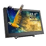 15.6インチ ポータブルモニター1080P モバイルディスプレイ HDMI/VGA/スピーカー内蔵 PCモニター サブモニター ゲーミングモニタ セキュリティーモニター 産業機器ディスプレイ