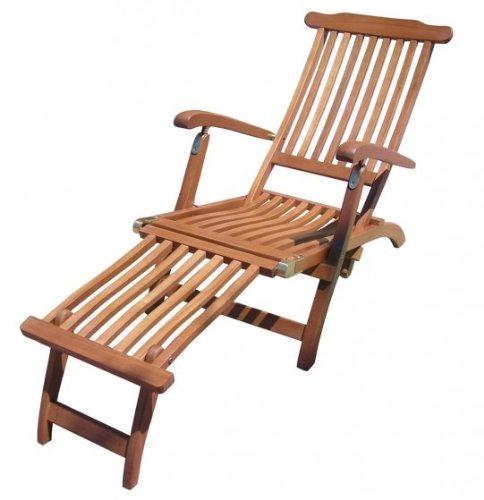 Chaise longue ajustable bois fSC huilé