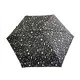 miffy(ミッフィー) 雨傘 総柄折ミニ傘 ブラック