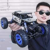 1:14 Coche de Control Remoto de Alta Velocidad Todoterreno RC Monster Car aleación y Piezas electrónicas 2.4GHZ inalámbrico de Cuatro Ruedas Regalos de cumpleaños para niños y Adultos