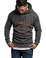 Kstare Mens Fashion Athletic Casual Hoodies Long Sleeves Loose Fit Print Sweatshirt Tops with Drawstring & Pocket