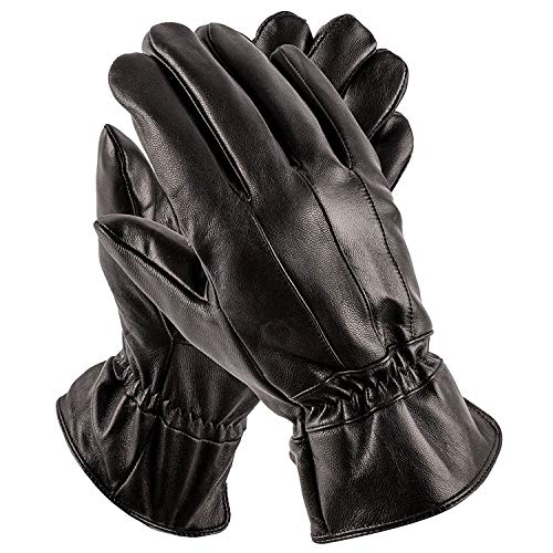 Pierre Cardin Leather Glove (Black, L/XL)