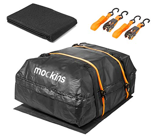 mockins Waterproof Cargo Roof Bag Set With A protective Car Roof Mat And 2 Ratchet Straps | 44