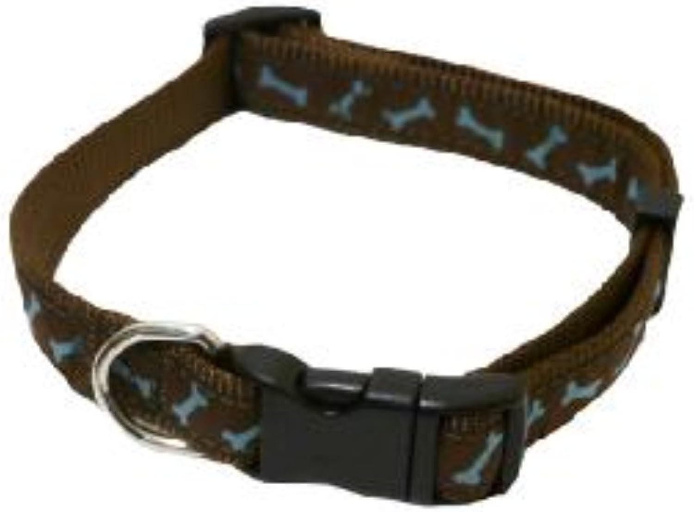 pinkwood WagnWalk Adjustable Collar, 18inch  28inch, Brown  Teal Bone
