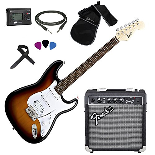 FENDER Squier Stratocaster SB HSS Kit Chitarra elettrica + Amplificatore Fender Frontman 10G + Accessori