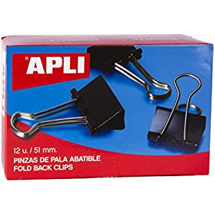 5 Star Office Foldback Clips 51mm Black [Pack 12]:Videomesum